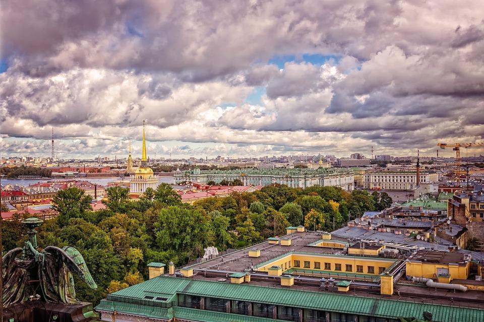 St Petersburg ariel görünüm